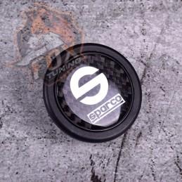 Кнопка рулевого сигнала Sparco (карбон)