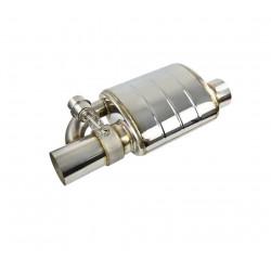 """Прямоточный глушитель с вакуумным клапаном 2.5"""" (63 mm)"""