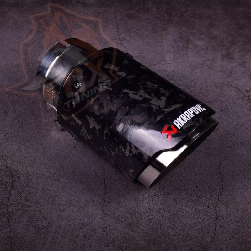 Насадка на выхлопную трубу Akrapovic 63 mm carbon (кованый)